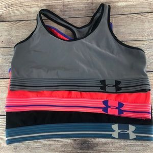 Women's XL Under Armour Sports Bra Set of 3